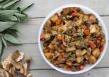 Ingredients:  1 tbsp. olive oil 10 oz. (300 g) mushrooms Couple of stalks celery Several sage leaves